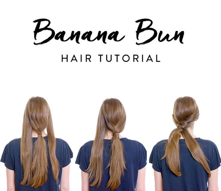 How To Do The Banana Bun Hairstyle Blushy Babe