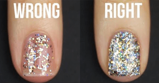 You've been Applying Glitter Nail Polish Wrong Your Entire Life 10