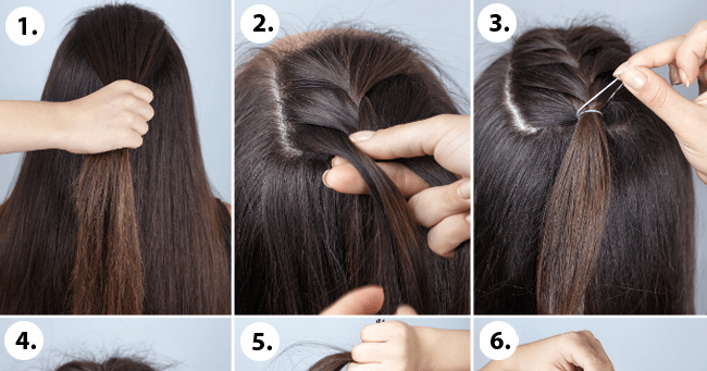 Half Bun Hairstyle Tutorial Step By Step Blushy Babe