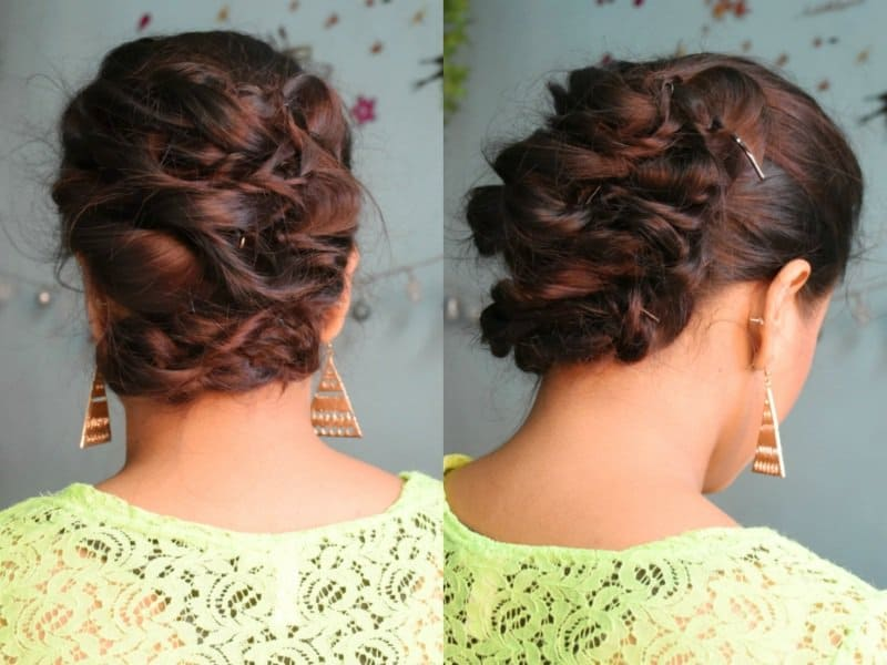 Must Watch Step- By- Step Hair Tutorial For Beautiful Voluminous Bridal Hairstyle 5
