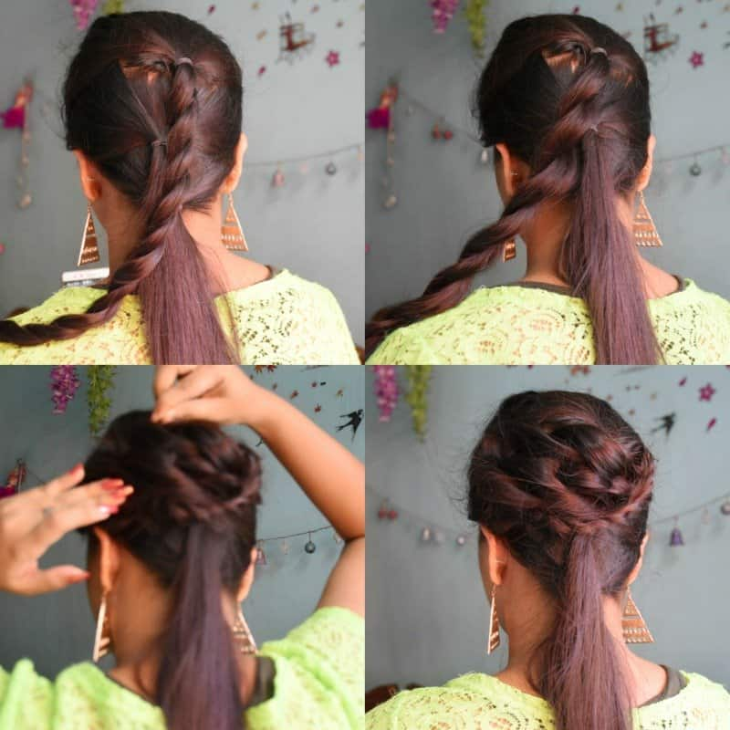 Must Watch Step- By- Step Hair Tutorial For Beautiful Voluminous Bridal Hairstyle 3