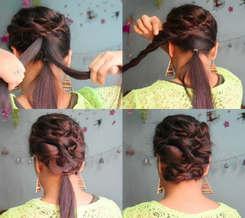 Must Watch Step- By- Step Hair Tutorial For Beautiful Voluminous Bridal Hairstyle 4