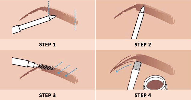 Follow the steps to make your eyebrows perfect without threading 3