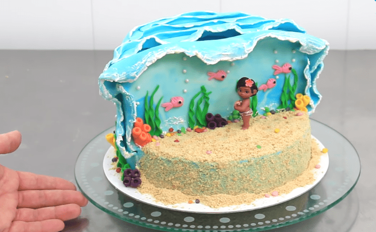 How to make Moana Disney cake step by step