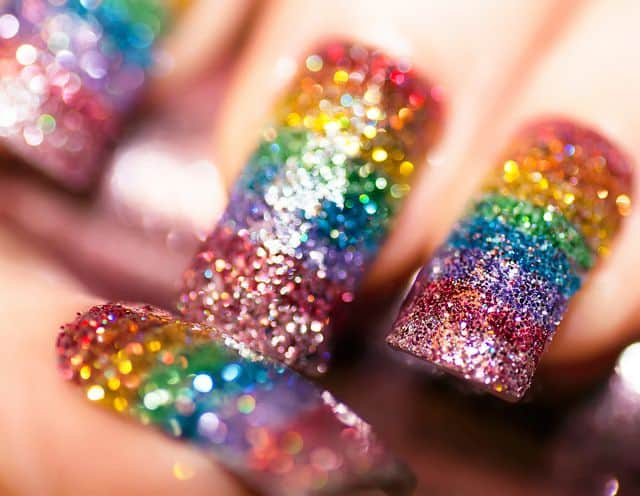 Some of the best Rainbow Nail Art Designs. 4