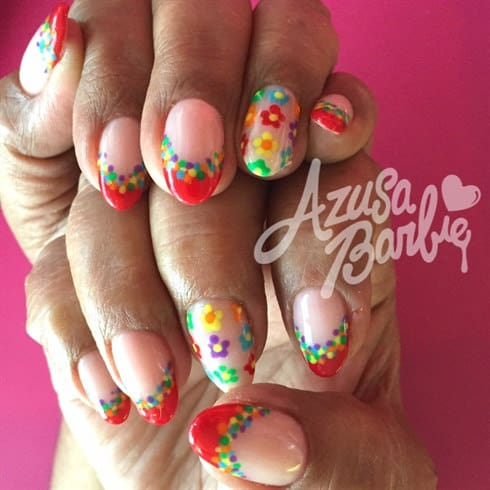 Some of the best Rainbow Nail Art Designs. 7