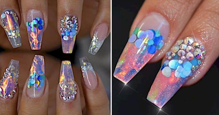 Must Try Out This Fire And Ice Nail Trend Right Now. 1