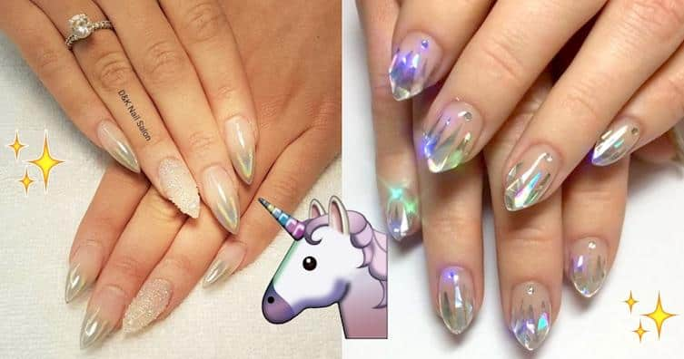A Dream To Get These Beautiful Unicorn Manicures. 4