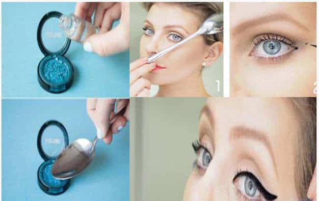 How you can use a spoon as a makeup instrument 1