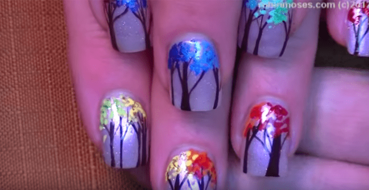 Some of the best Rainbow Nail Art Designs. 2