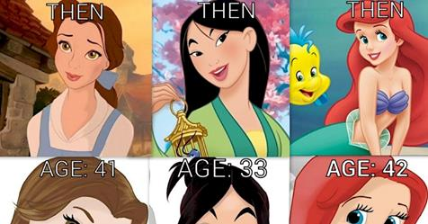 Disney princesses would look like in their old