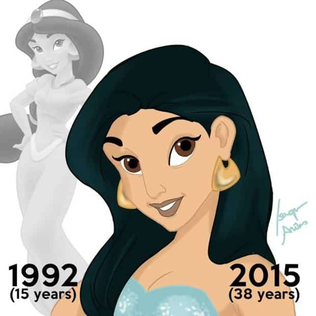 Disney Princesses Must Have Aged Since The Release of Their Movies If They Were Real. 4