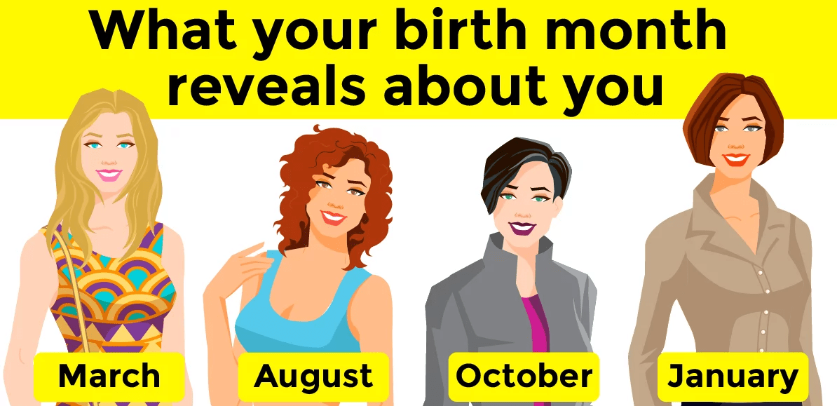 Birth month reveals about you