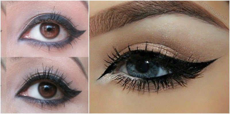 Winged Eyeliner: Step-by-step 1
