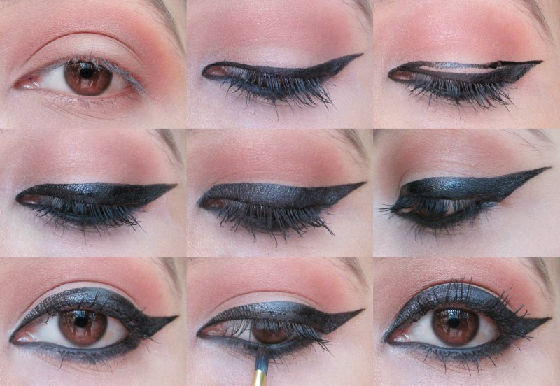 Winged Eyeliner: Step-by-step 2