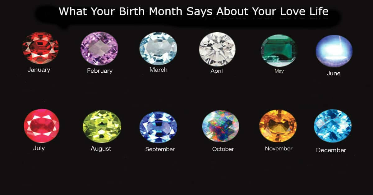 What does your birth month say about your love life?