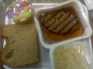 School cafeteria lunches at its worst. 5
