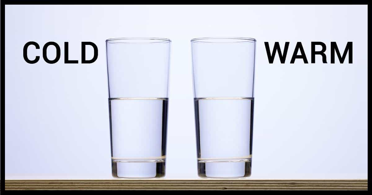 What are the differences between warm and cold water