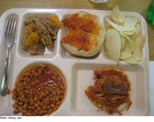 School cafeteria lunches at its worst. 6