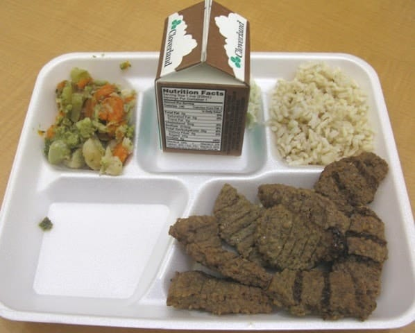 School cafeteria lunches at its worst. 1