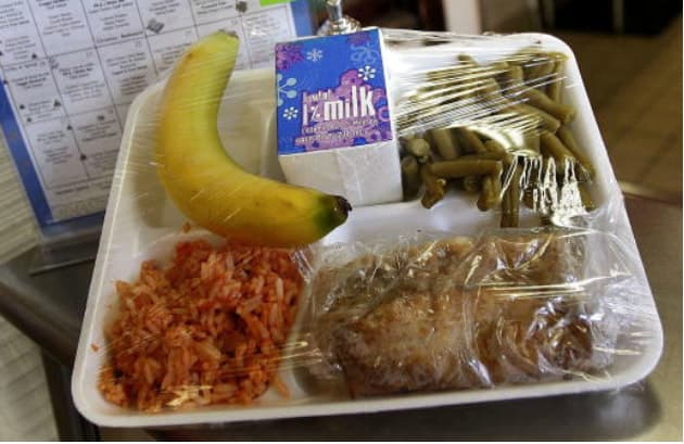 School cafeteria lunches at its worst. 2
