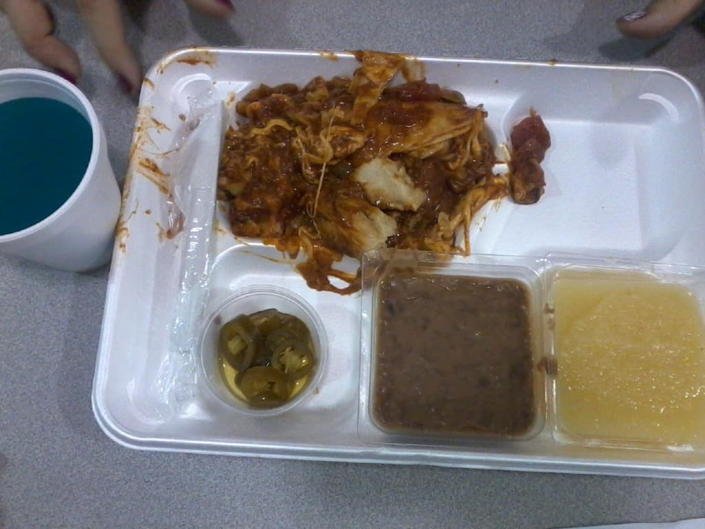 School cafeteria lunches at its worst. 10