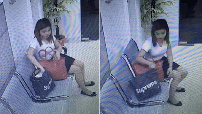 Phone thief woman got caught in CCTV footage