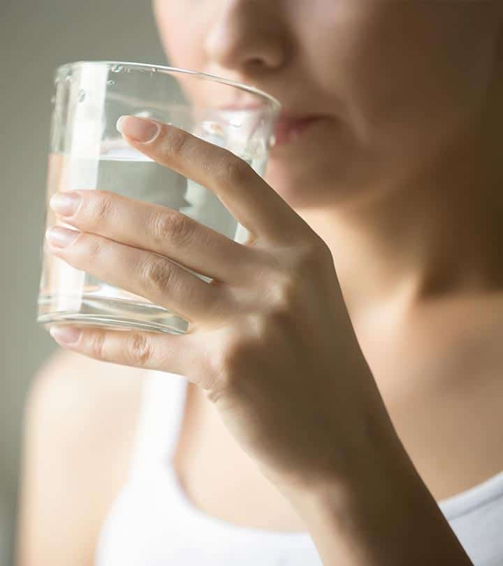 Some situations when you should not drink water