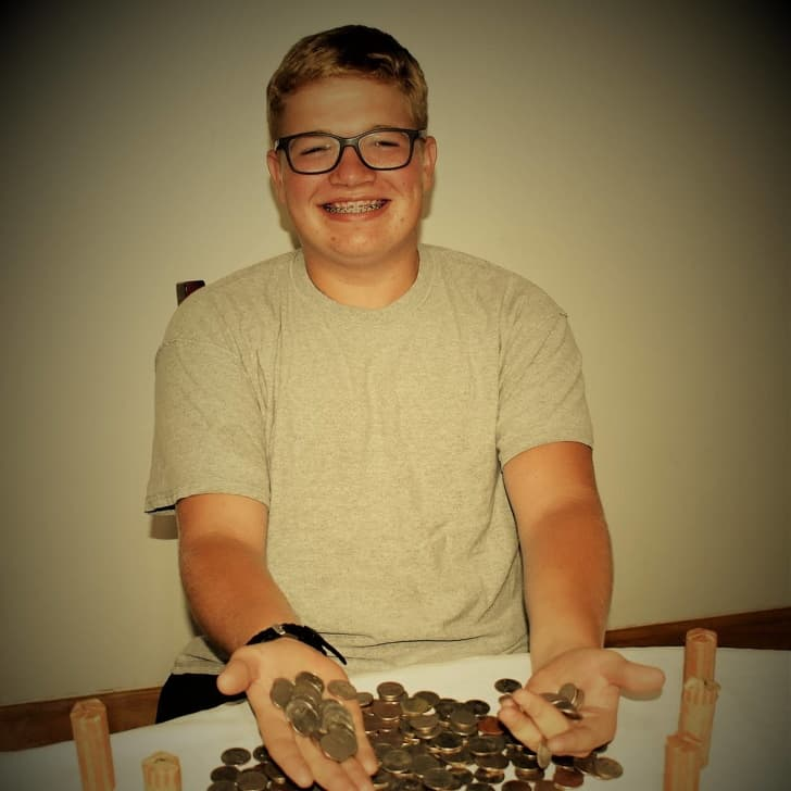 The 17-year-old boy paid with quarters