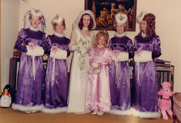 Some Of The Ridiculous Bridesmaid Dresses That Have Over Time 1