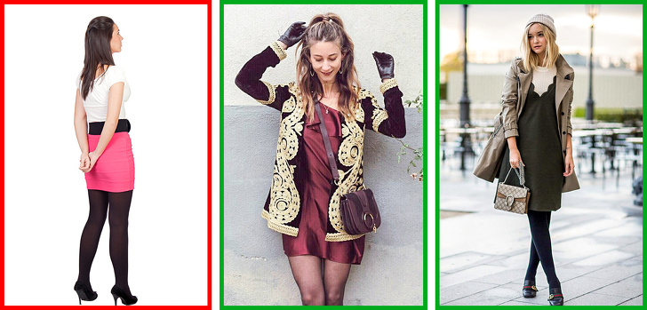 2 Ways To Combine Tights With Shoes And Clothes 3
