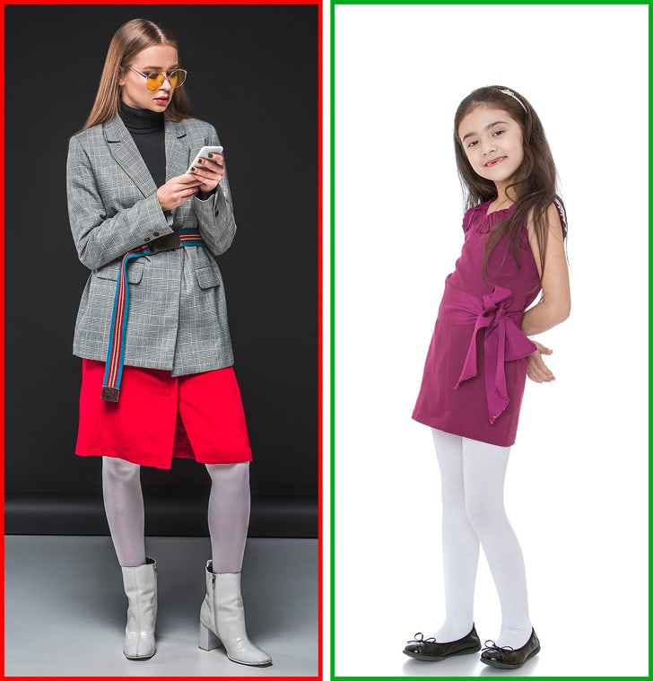 2 Ways To Combine Tights With Shoes And Clothes 5