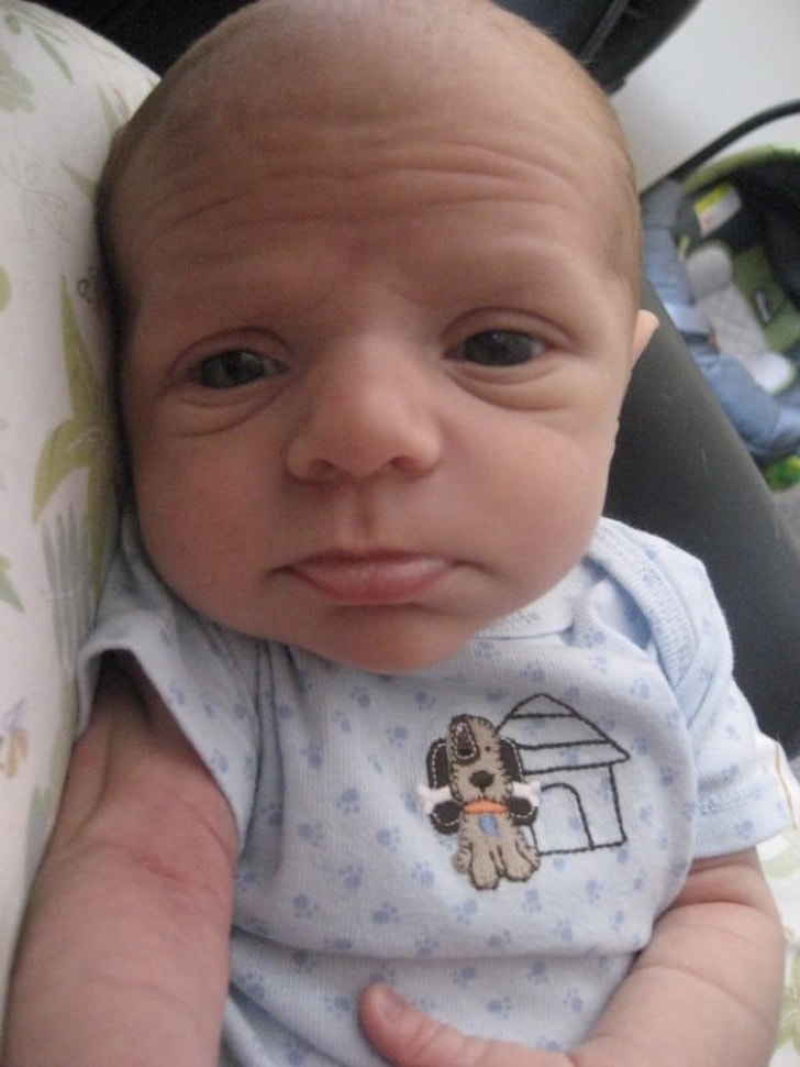 These 13 Best Babies Picture Expressions Who Might Look Older Than You 8