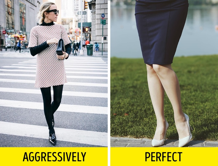 Here is how to combine tights with shoes and clothes