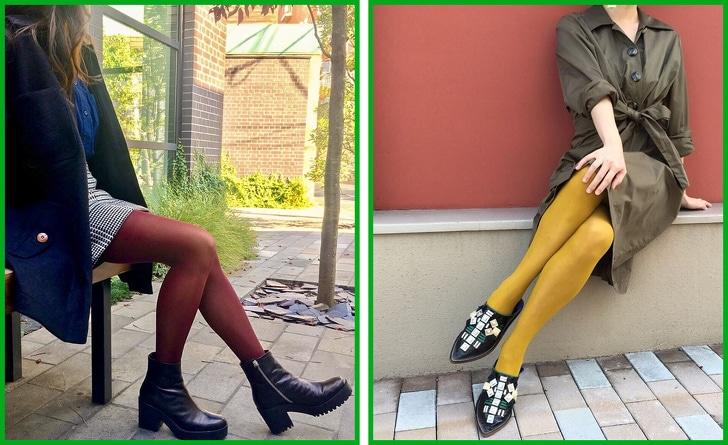 2 Ways To Combine Tights With Shoes And Clothes 2