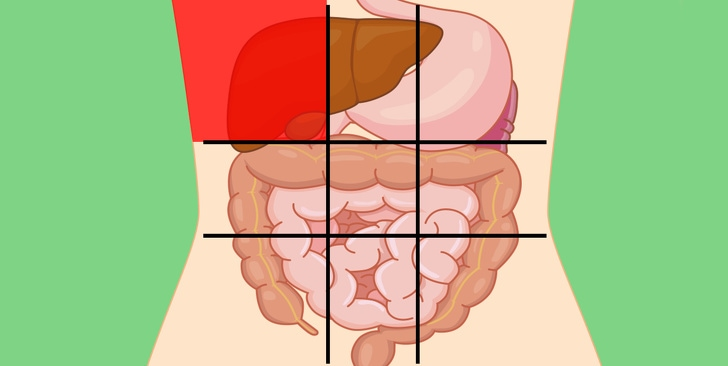 6 Belly map can tell the reason for stomach pain