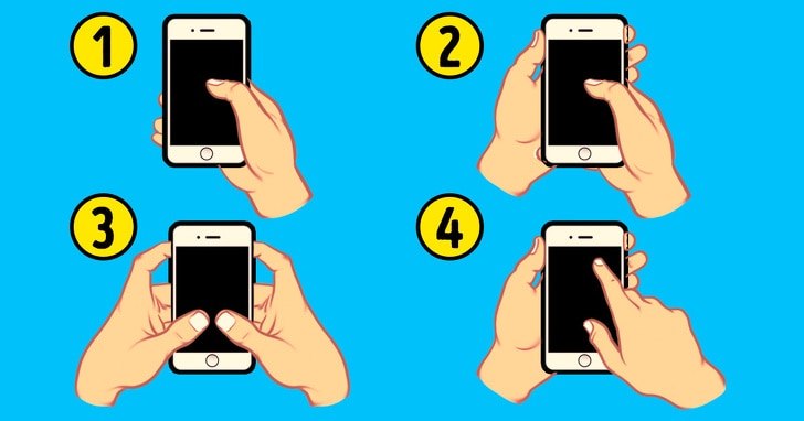 The way of holding your phone can reveal your personality